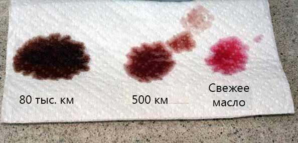 Примеры пробы масла из АКПП